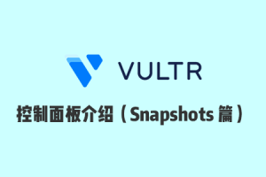 Vultr 使用教程:Vultr 官网控制面板使用介绍之 Snapshots 篇