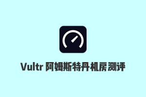 2020 Vultr Amsterdam 阿姆斯特丹机房速度测试和延迟测试
